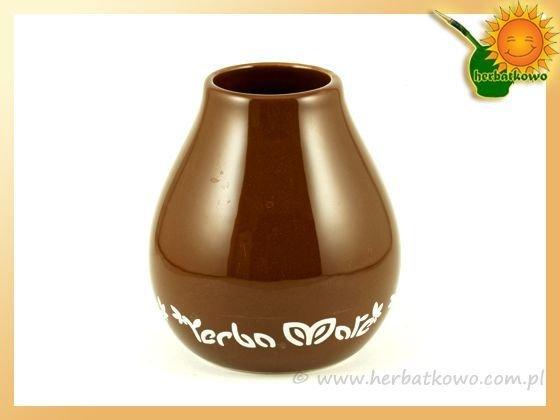 Matero ceramiczne Luka Brown do Yerba Mate