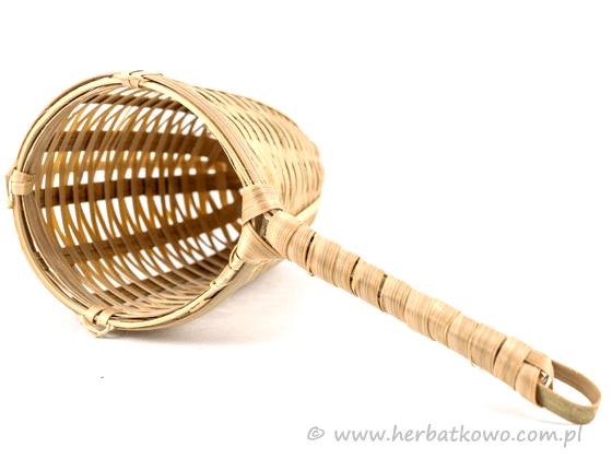 Zaparzacz bambusowy z uchwytem